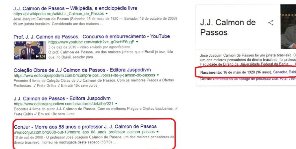 "Internet ""ressuscitou"" Calmon de Passos"