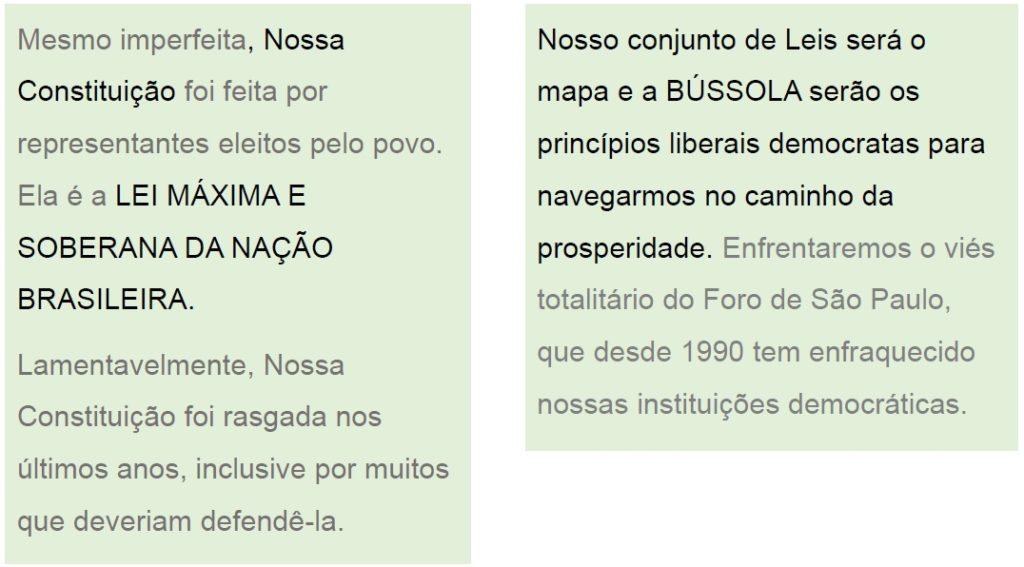 Programa Bolsonaro Constituição Imperfeita